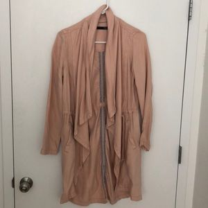 Pink trench anorak coat. Size small